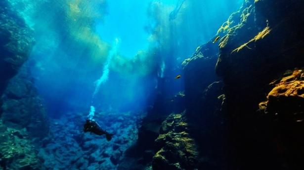 Underwater view of Lagoa Misteriosa (Mysterious Lagoon) in Jardim, Brazil 20130328